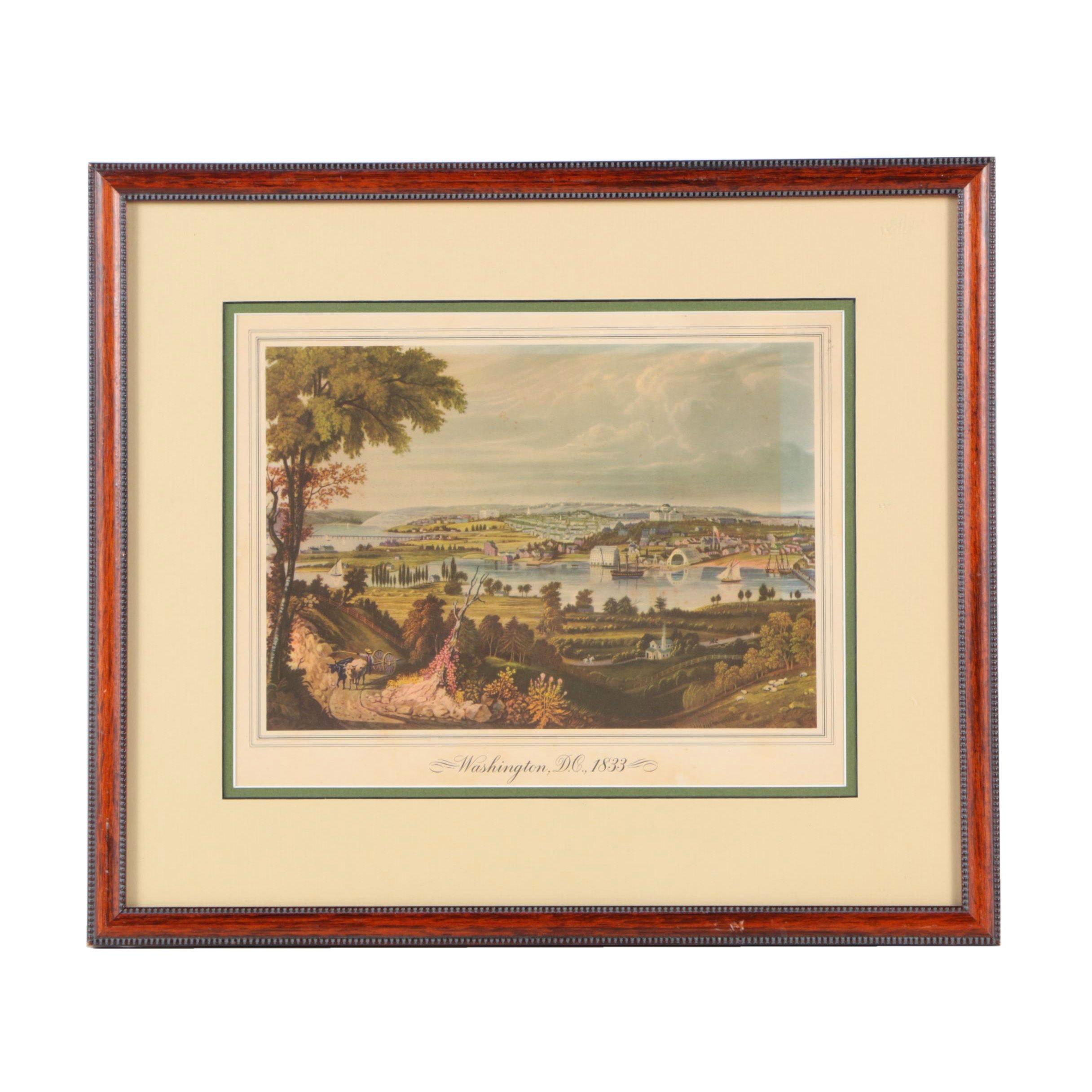 "Offset Lithograph on Paper ""Washington, D.C.,1833"""
