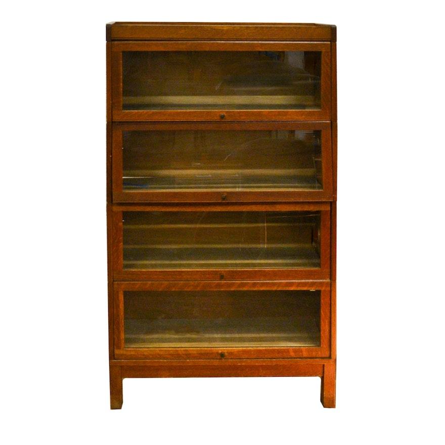 Vintage Oak Display Cabinet ... - Vintage Oak Display Cabinet : EBTH