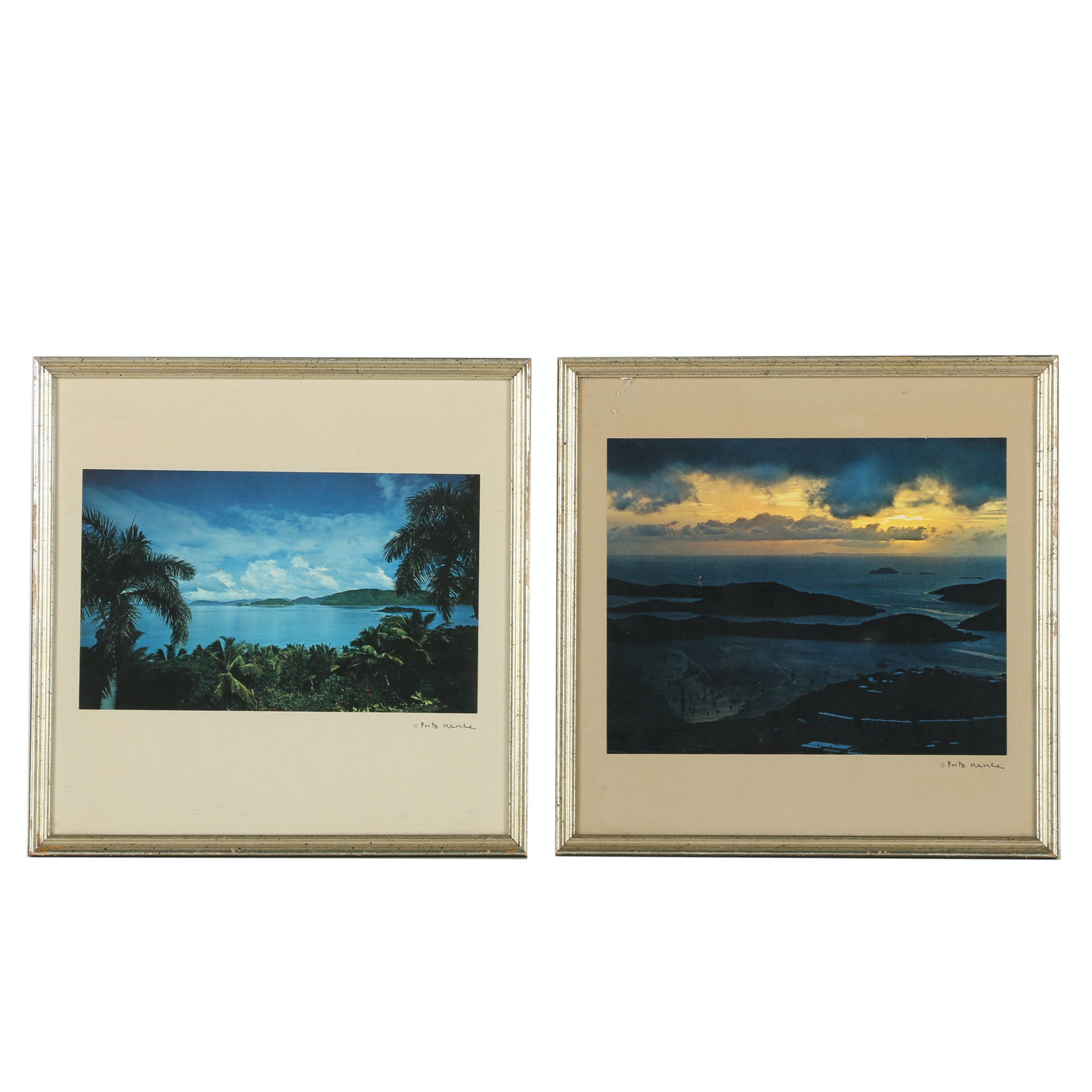 Pair of Giclée Prints on Paper After Fritz Henle of Tropical Landscapes