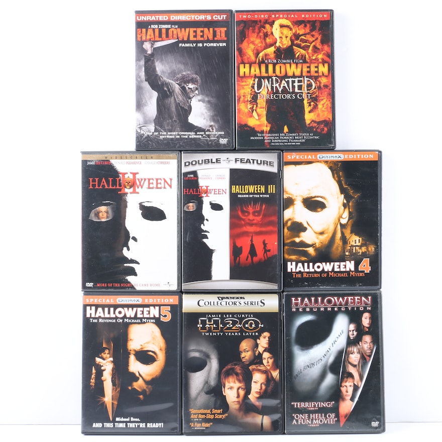 halloween film series dvd collection ebth. Black Bedroom Furniture Sets. Home Design Ideas