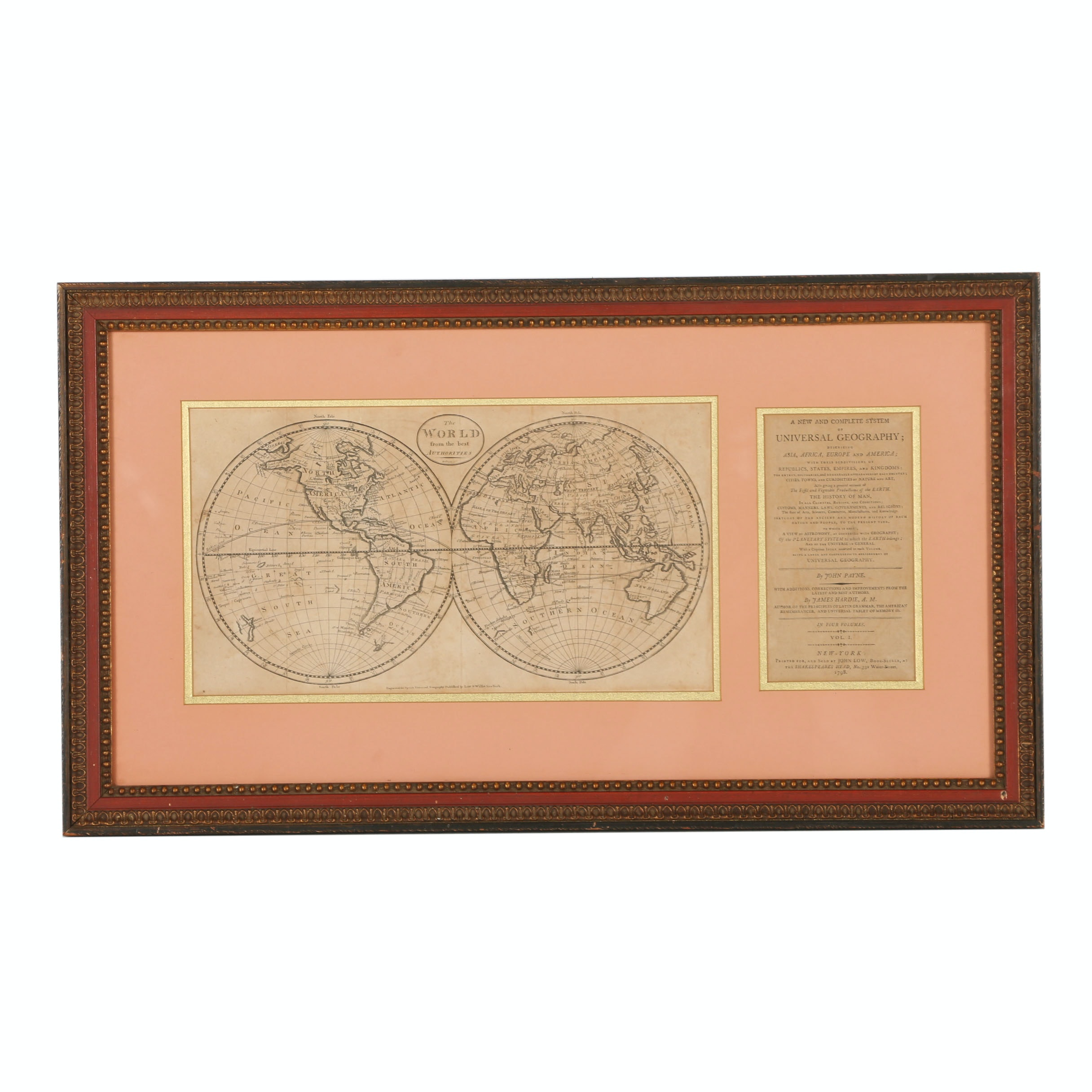 "Lithograph after John Payne ""The World from the Best Authorities"""