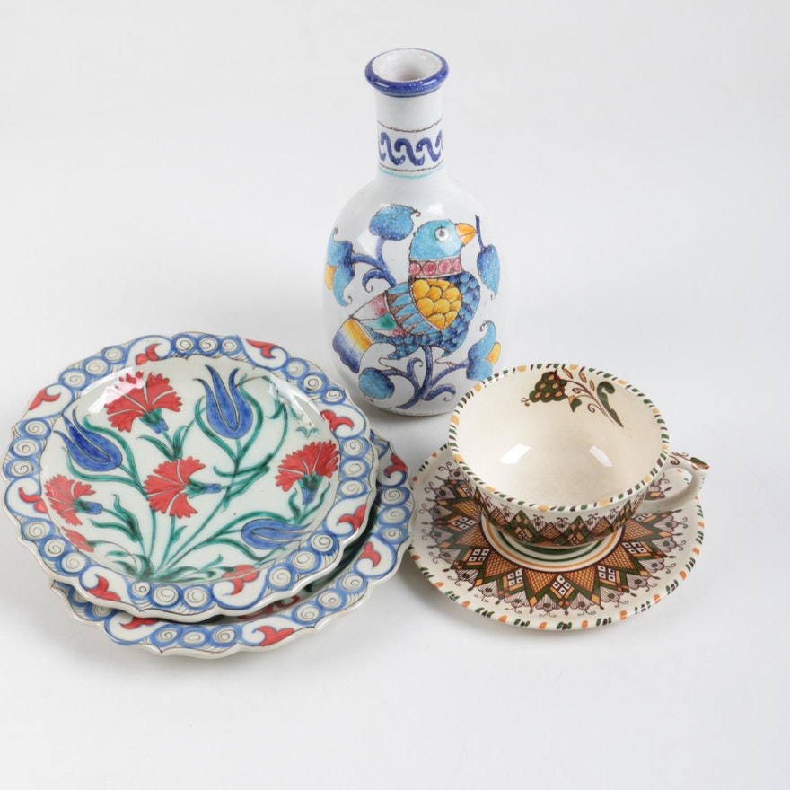 Faience earthenware tableware and decor ebth for Decoration faience