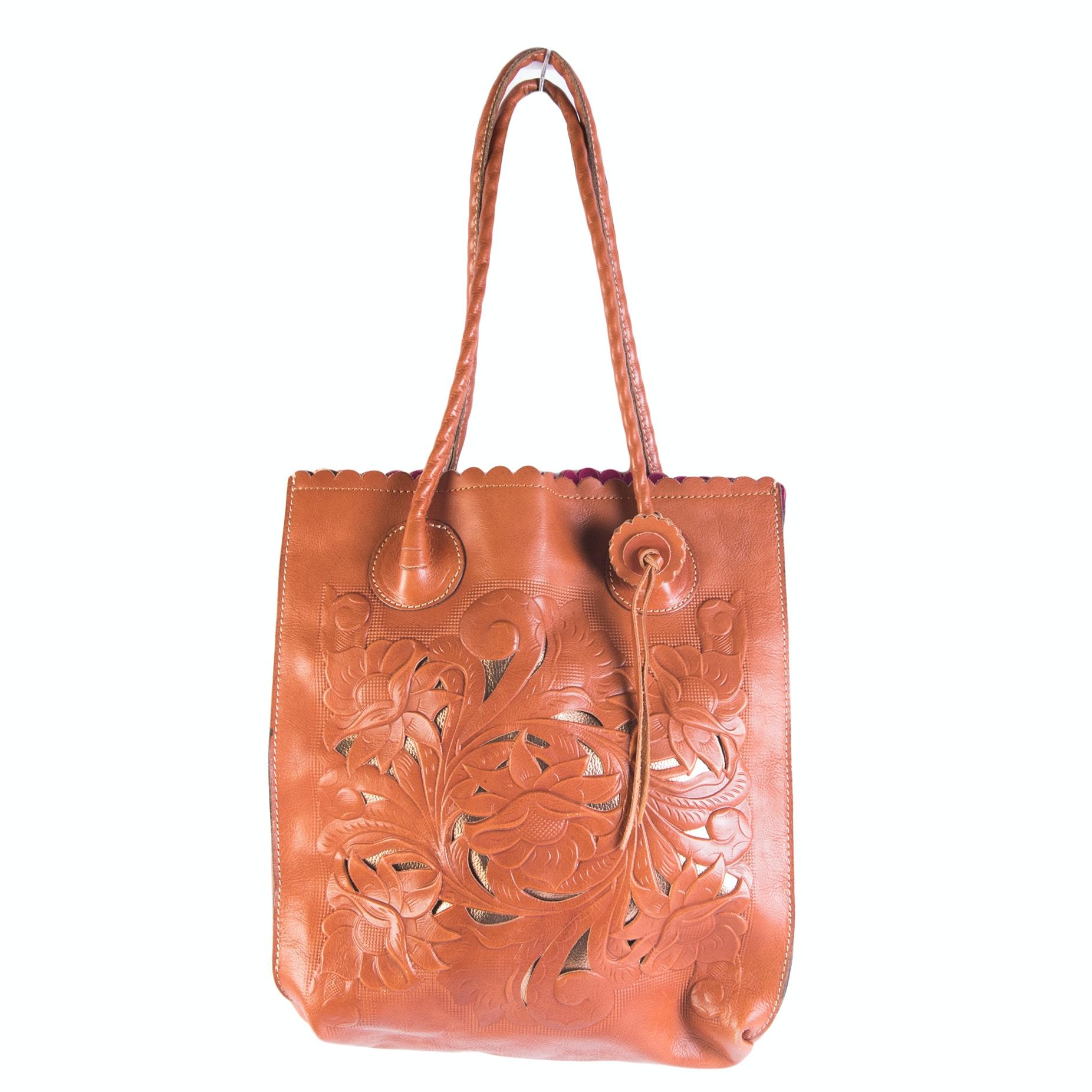 Patricia Nash Tooled Leather Tote Bag