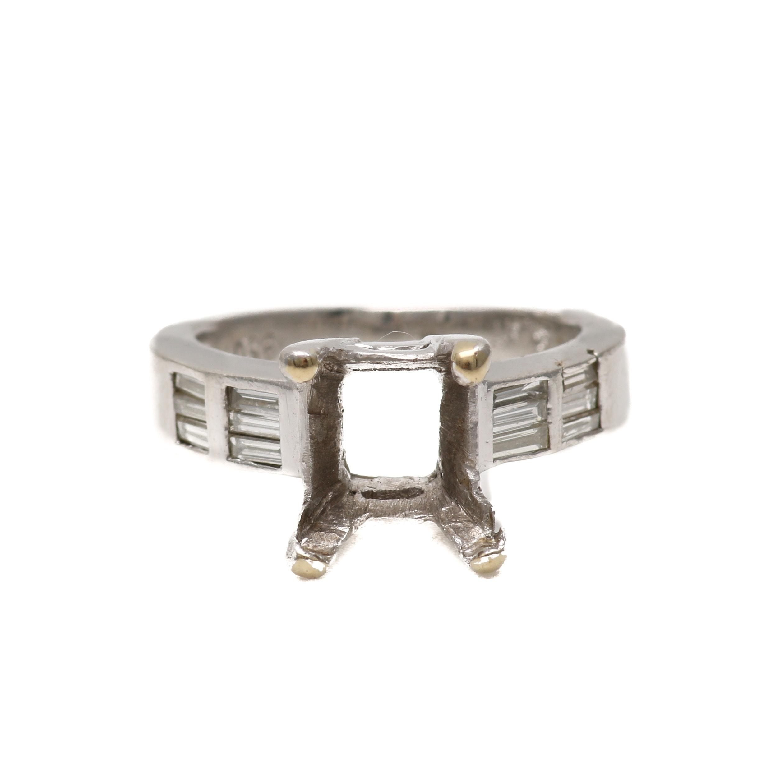Platinum Diamond Ring Mount