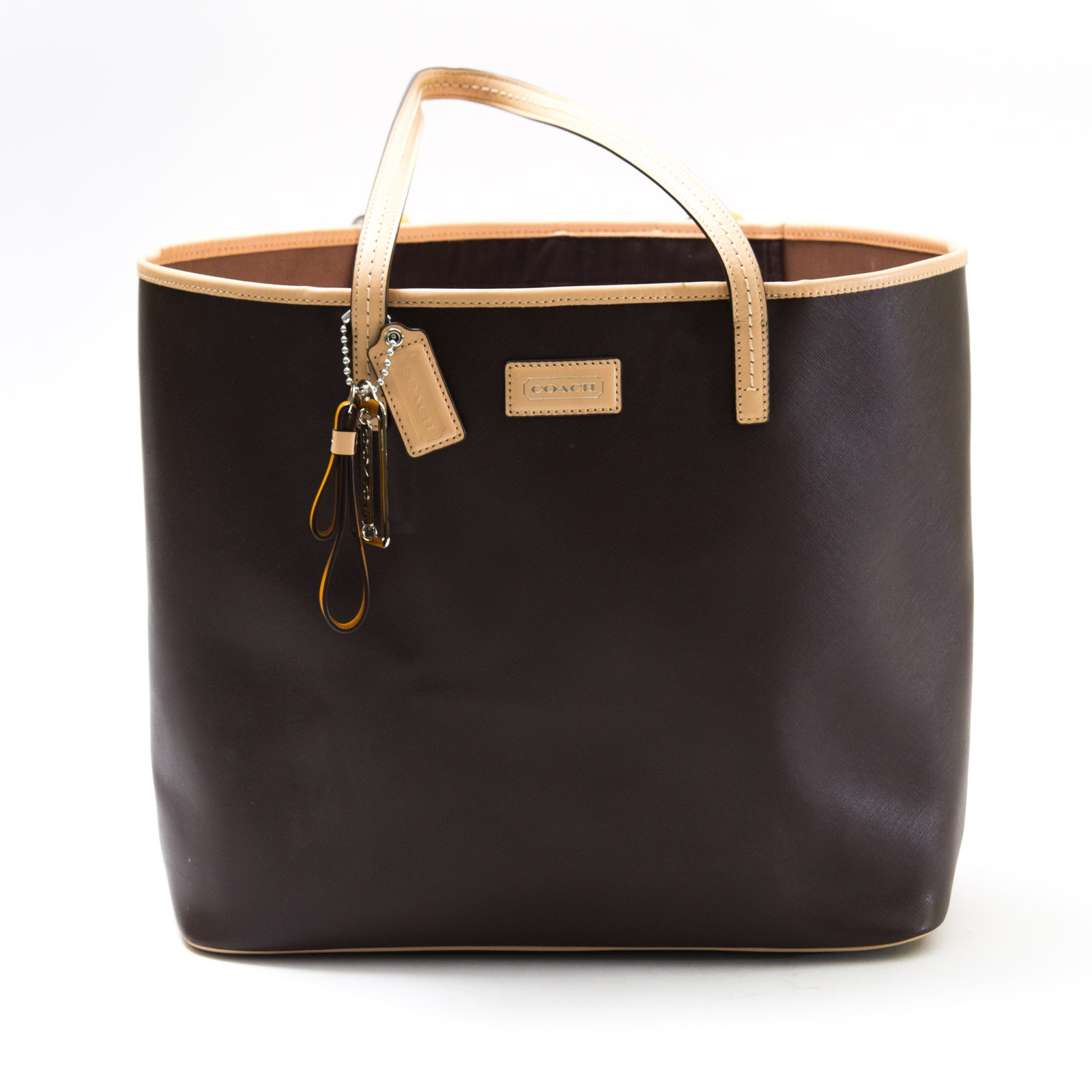 Brown Leather COACH Purse