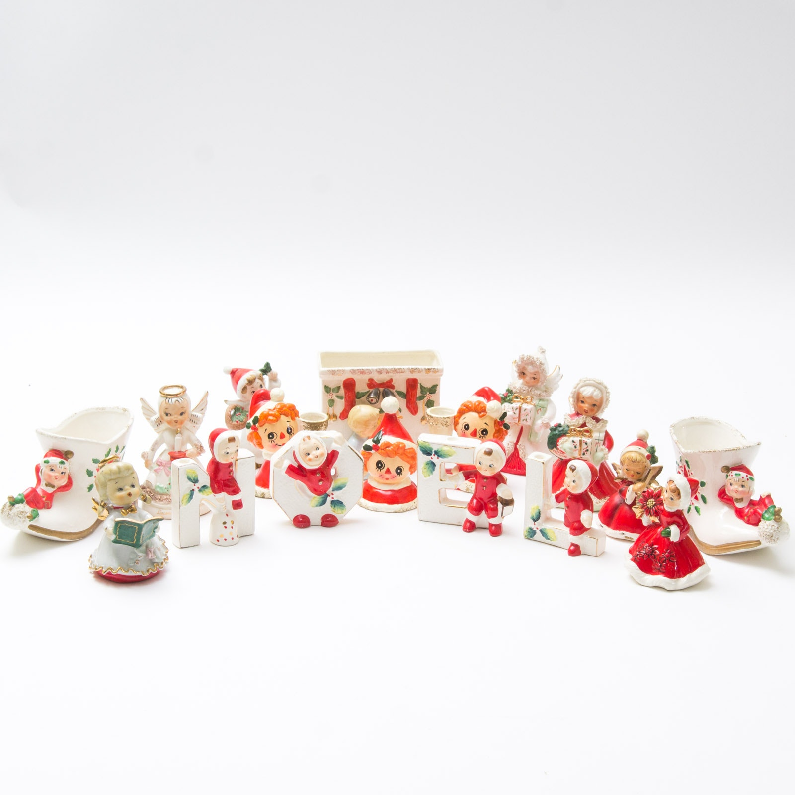 Grouping of Napcoware Christmas Figurines