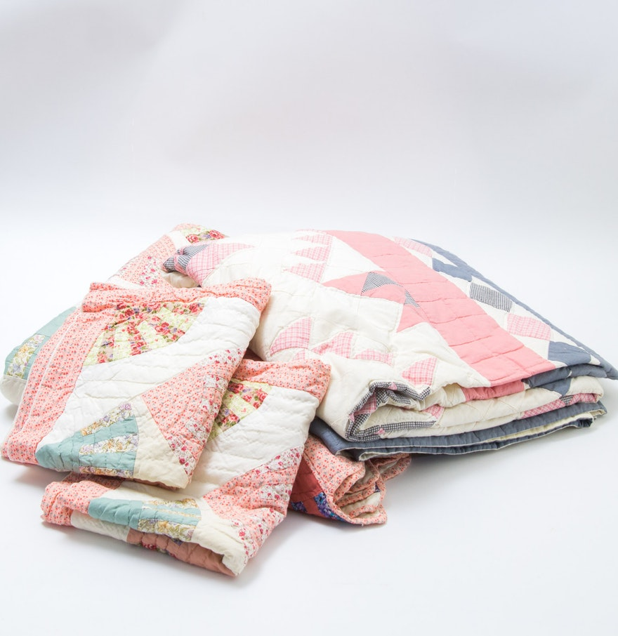 Handmade Cotton Quilts and Pillow Shams : EBTH : handmade cotton quilts - Adamdwight.com
