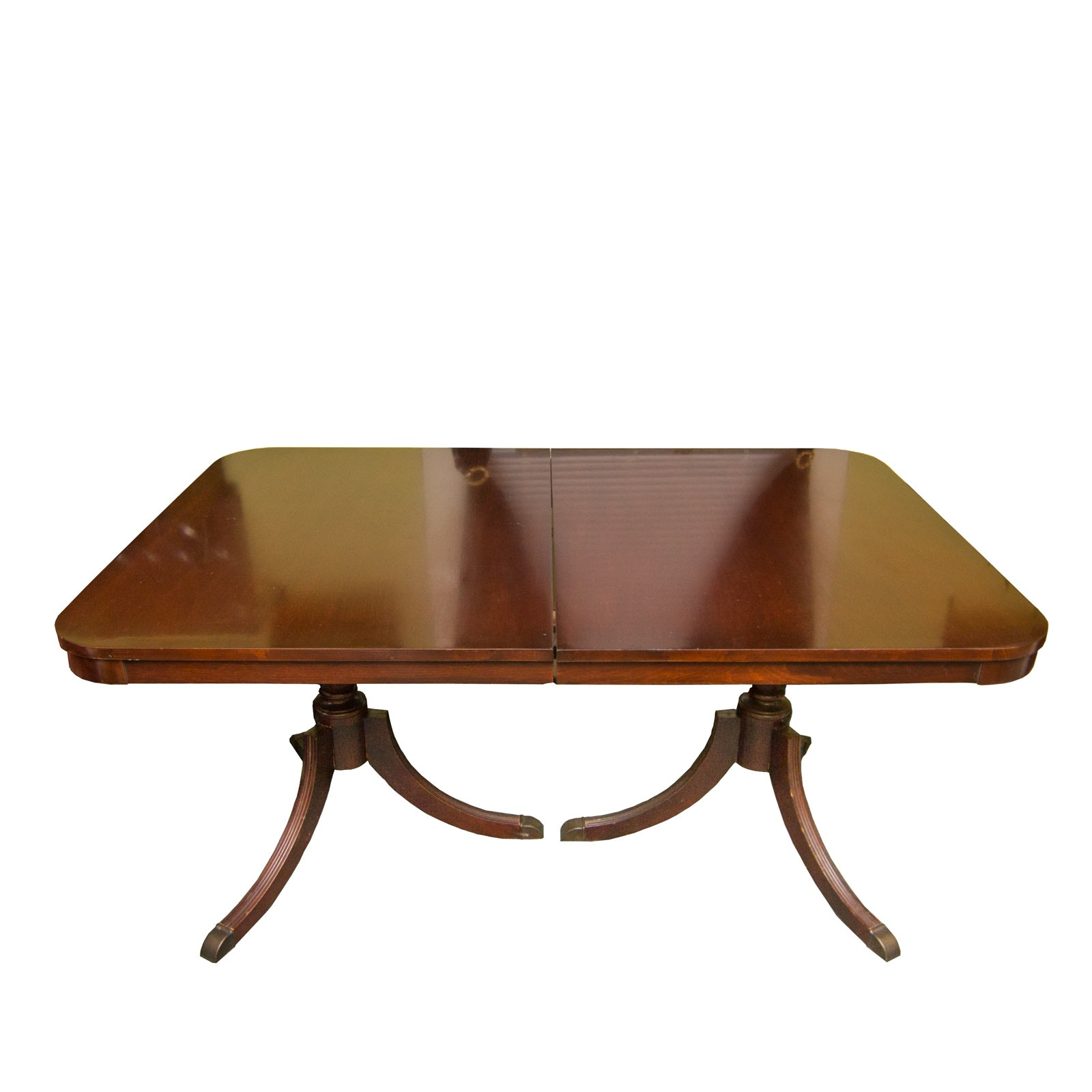 Antique Double Pedestal Dining Table