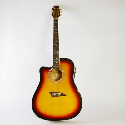 Kona Acoustic-Electric Guitar and Hard Case