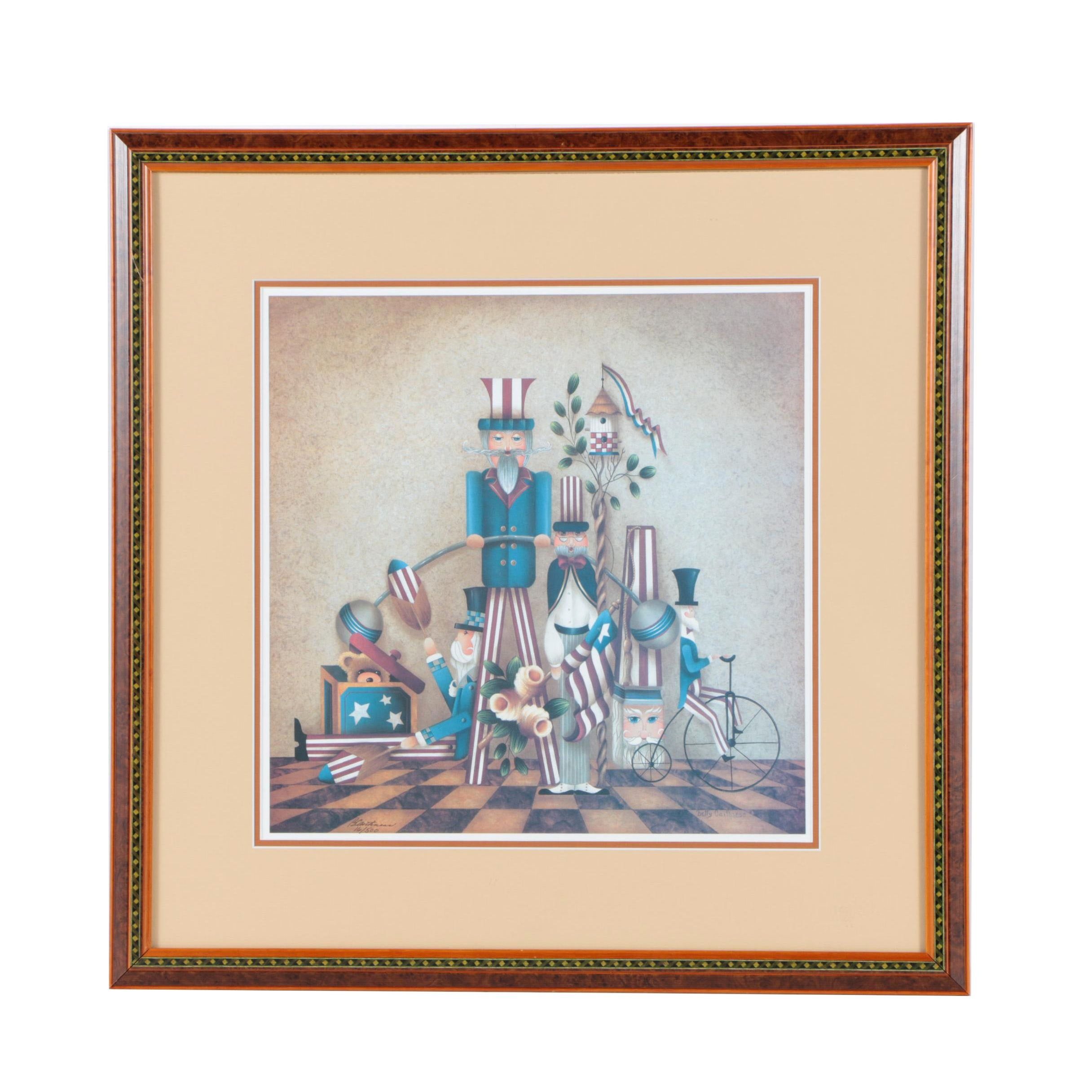 Betty Caithness Limited Edition Offset Lithograph America Themed Still Life