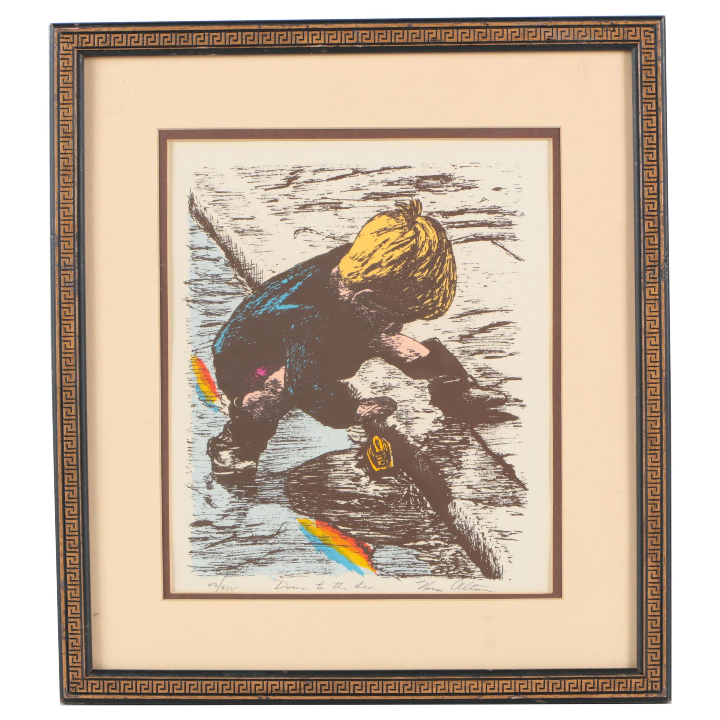 "Norm Altman Limited Edition Serigraph ""Down to the Sea"""