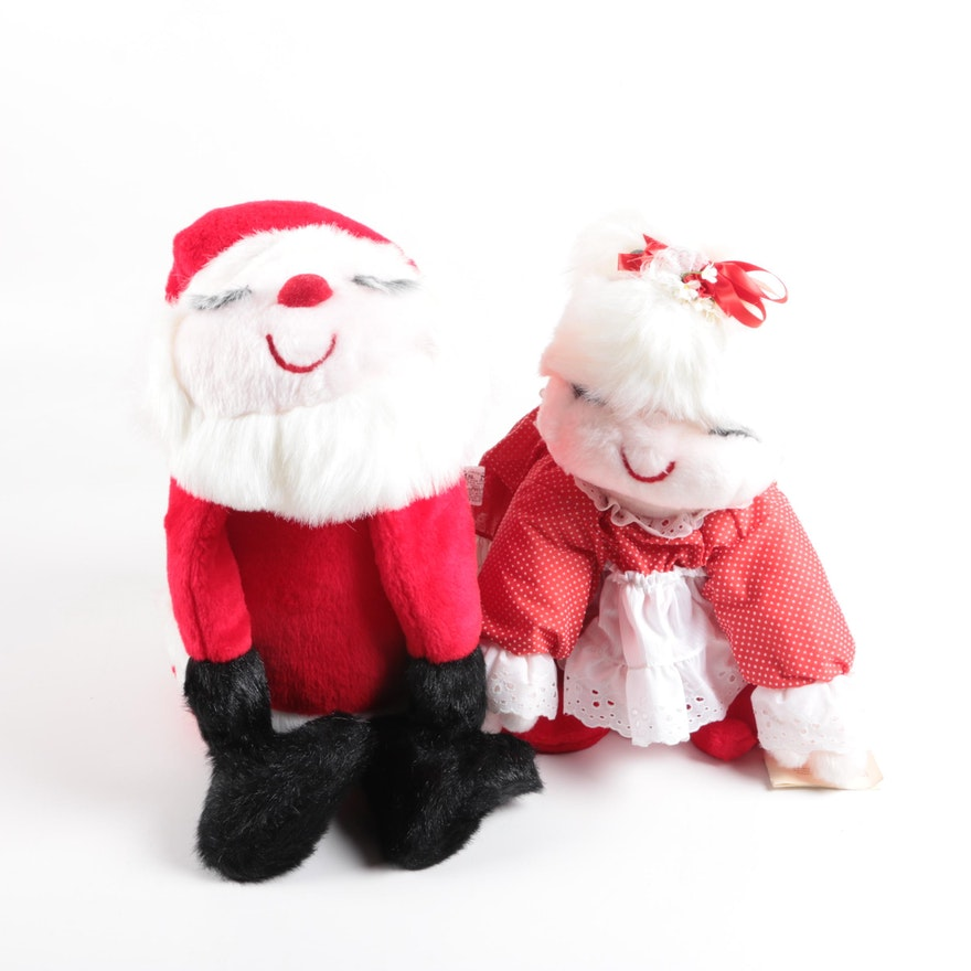 ms noah tipsy santa and mrs tipsy santa stuffed - Stuffed Santa Claus