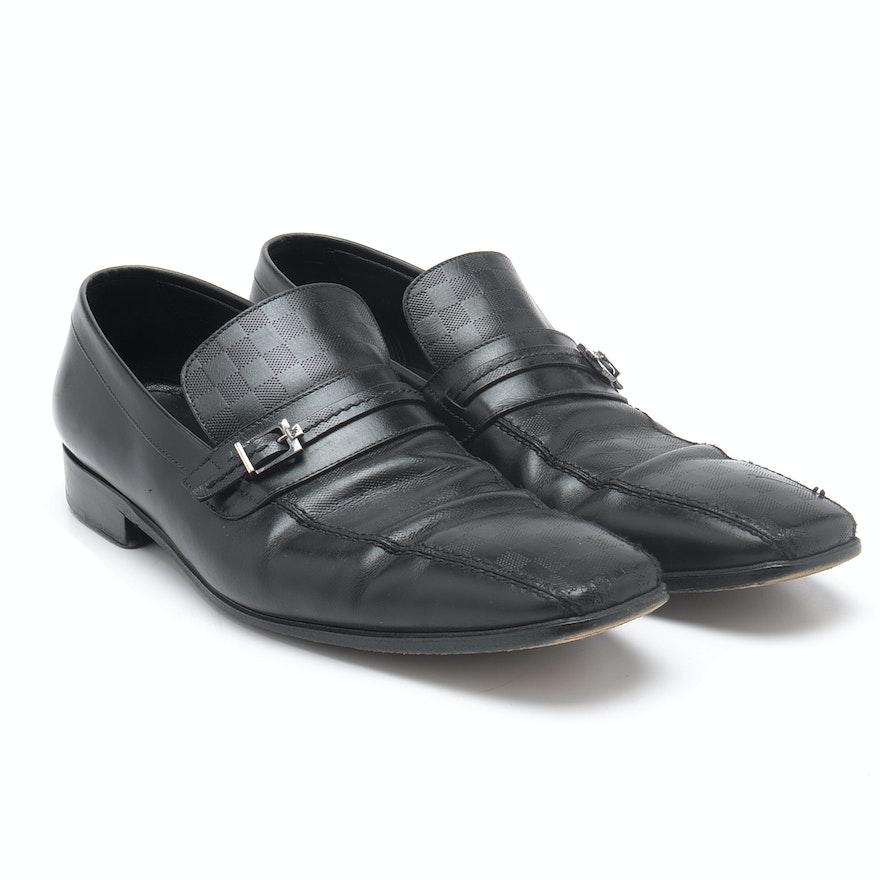 b0cf60f98327 Men s Louis Vuitton Damier Leather Shoes   EBTH