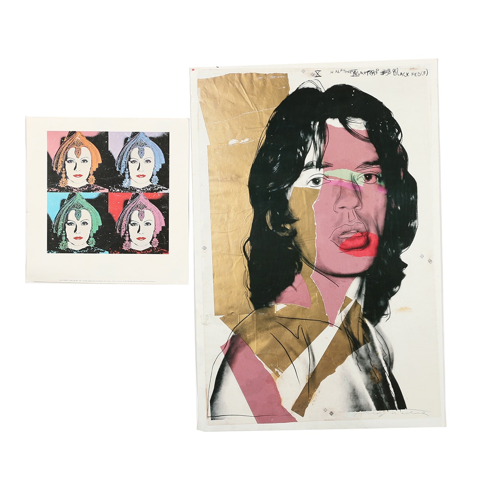"Reproduction Prints After Andy Warhol's ""The Star 258"" and ""Mick Jagger"""