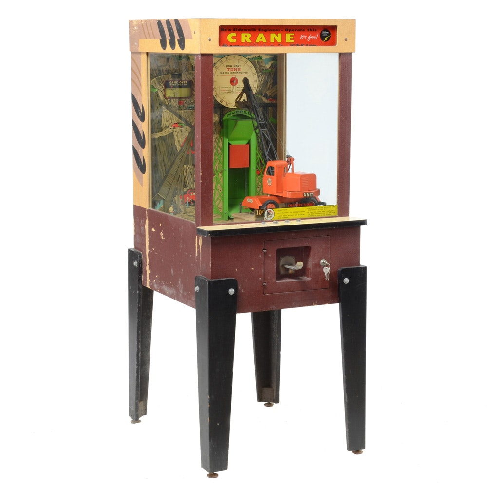 Vintage Coin-Operated Crane Arcade Game by Williams Electronic Mfg., Circa 1956