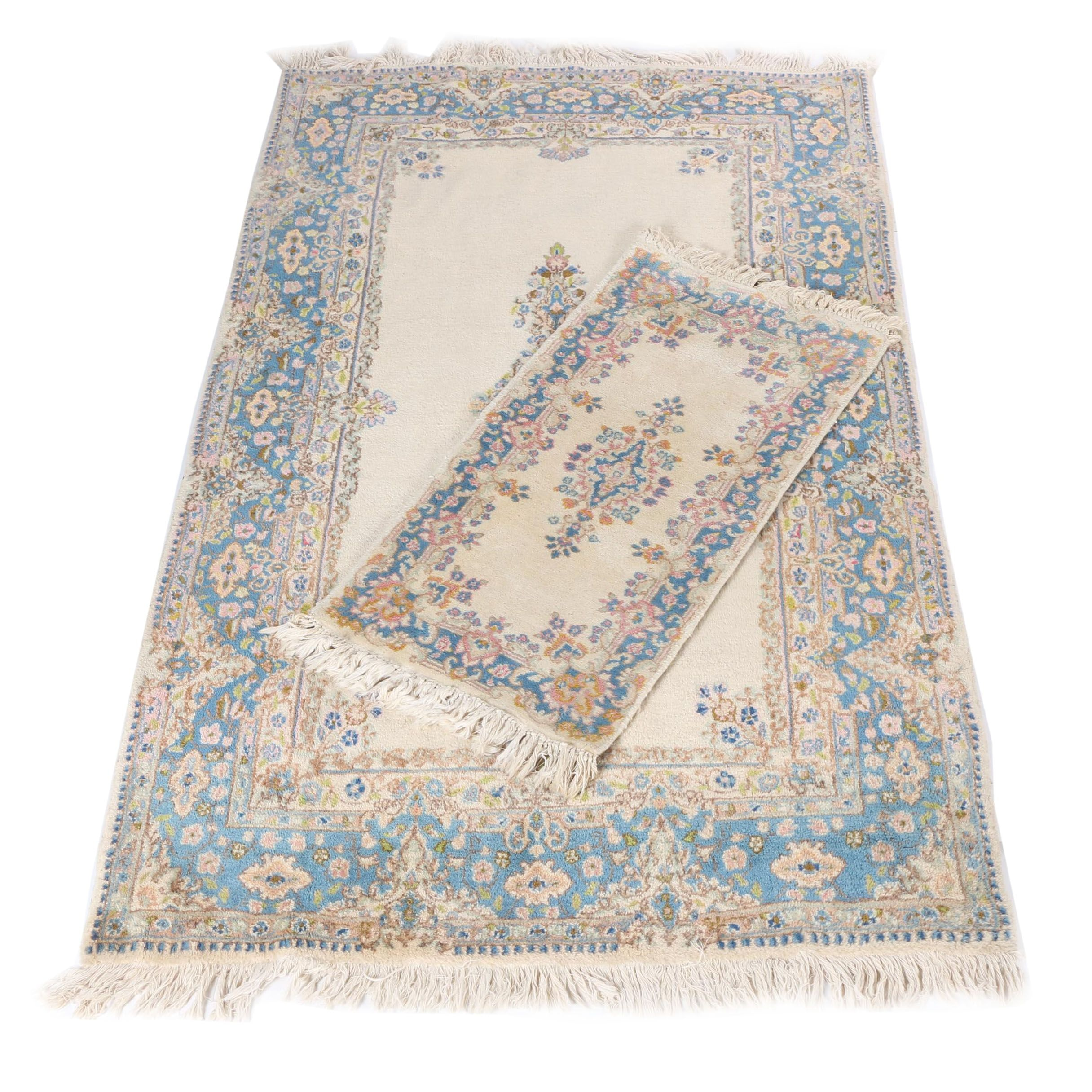 Hand-Knotted Persian Kerman Wool Rugs