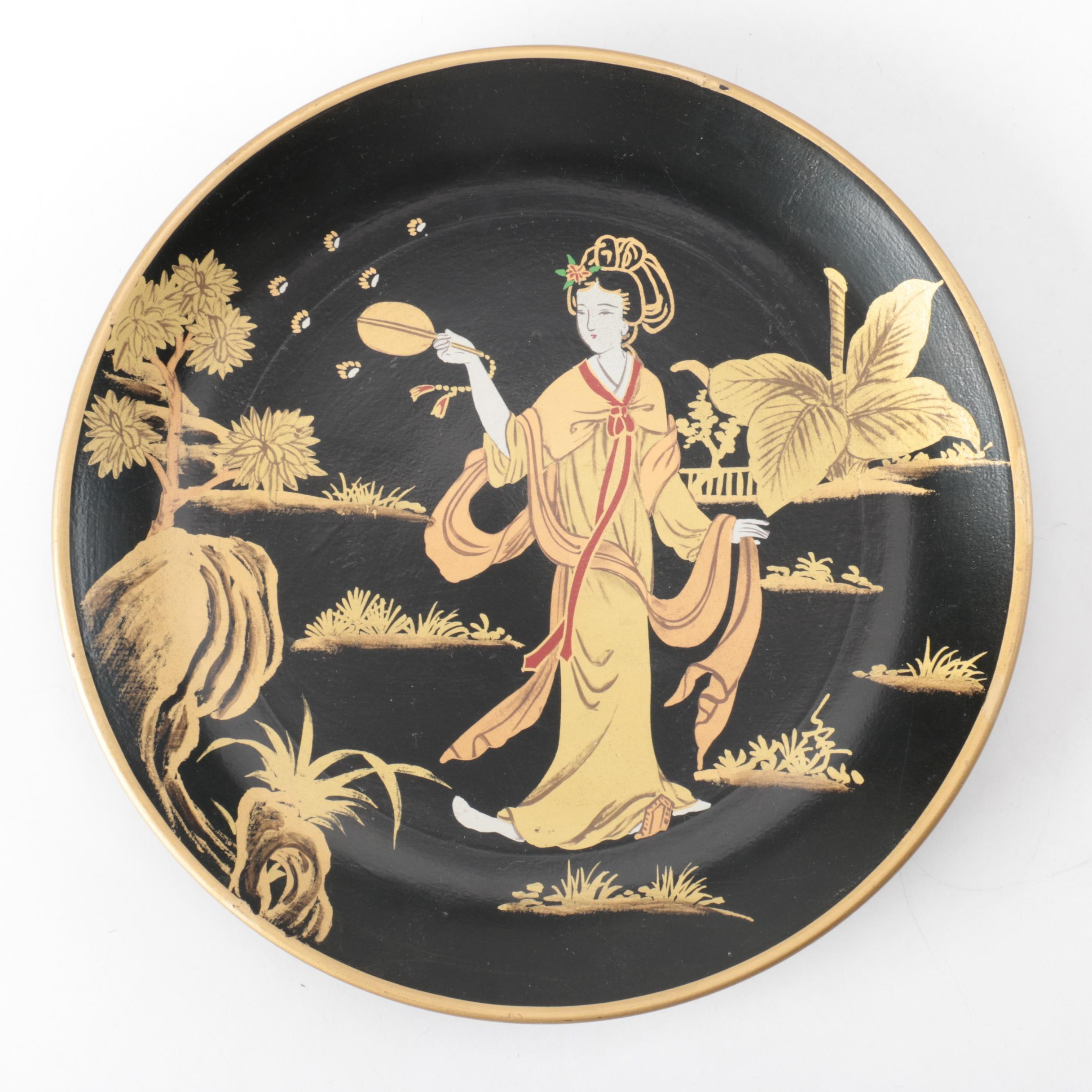 Japanese-Inspired Decorative Plate