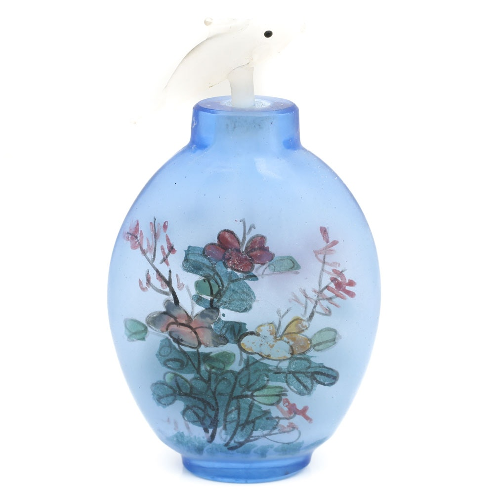 Hand Painted Chinese Glass Snuff Bottle