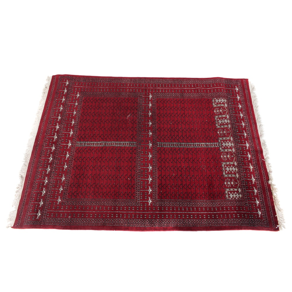 Hand-Knotted Caucasian Turkmen Area Rug