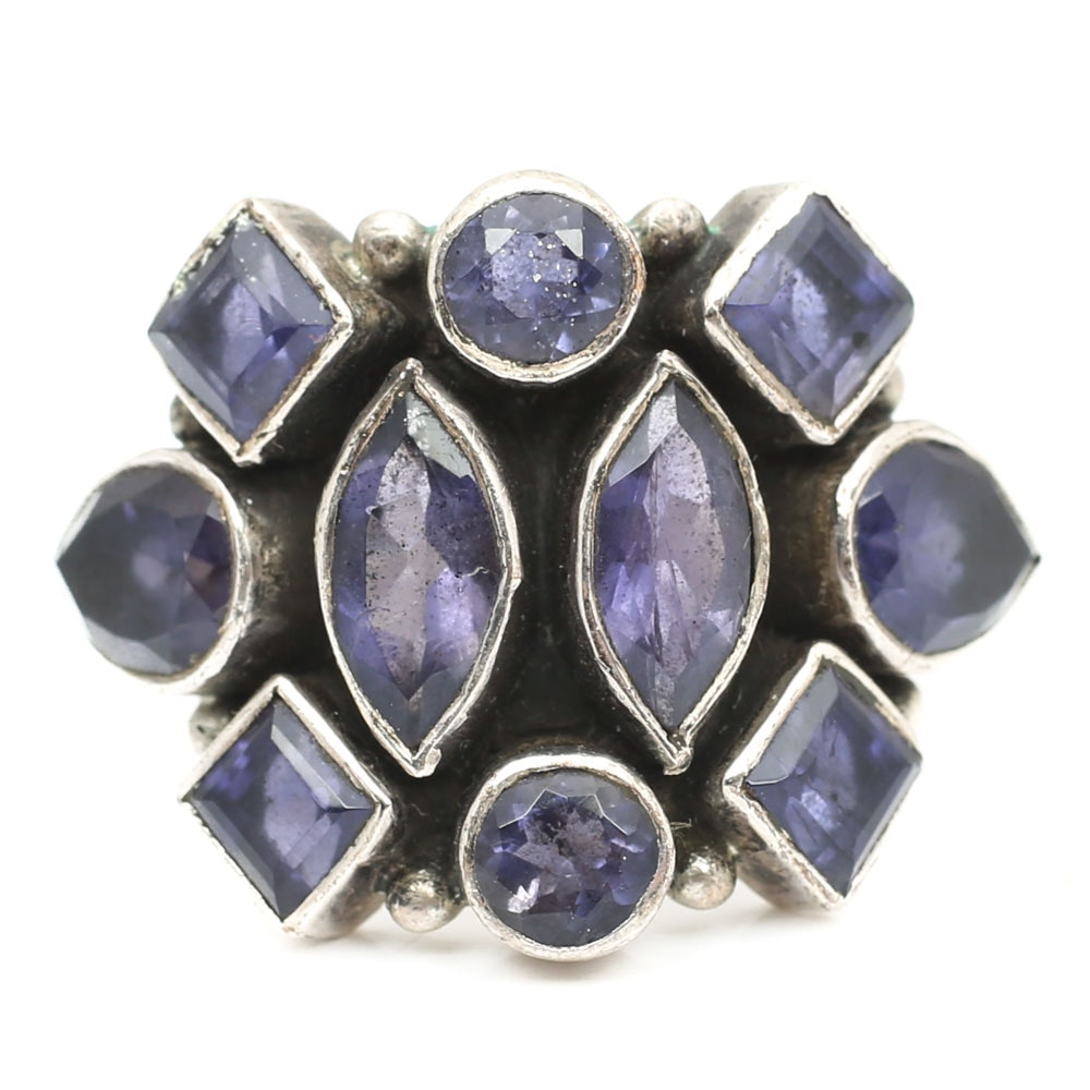 Sterling Silver 3.40 CTW Multi-Stone Amethyst Ring