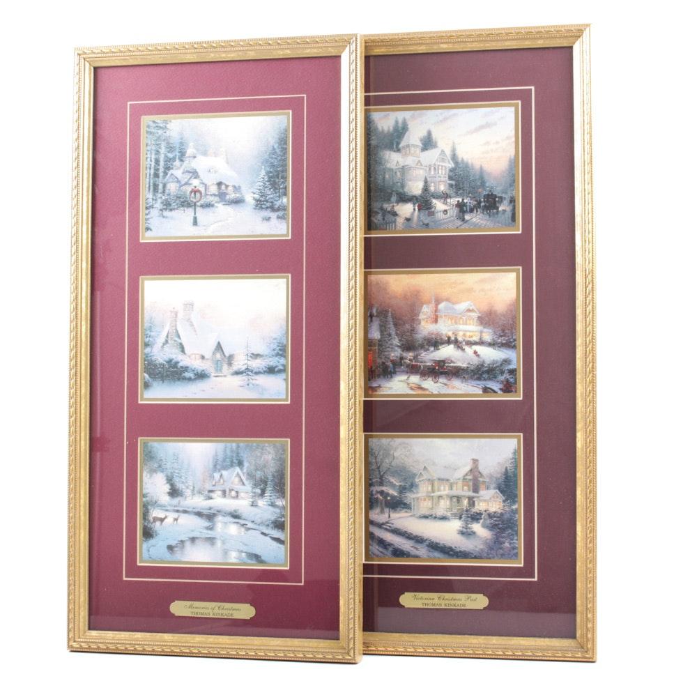"""Thomas Kinkade  """"Memories of Christmas"""" and """"Victorian Christmas Past"""""""