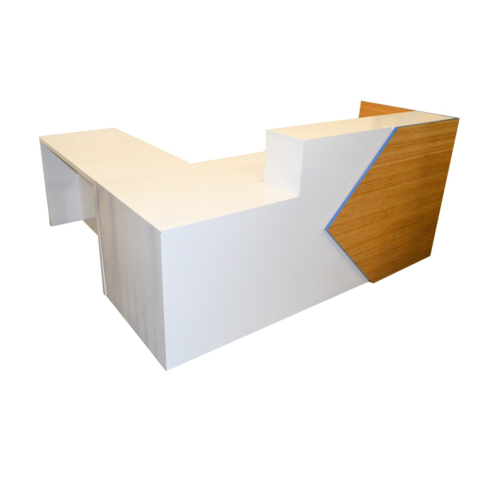 Modernist Laminate Reception Desk by HPL Contract