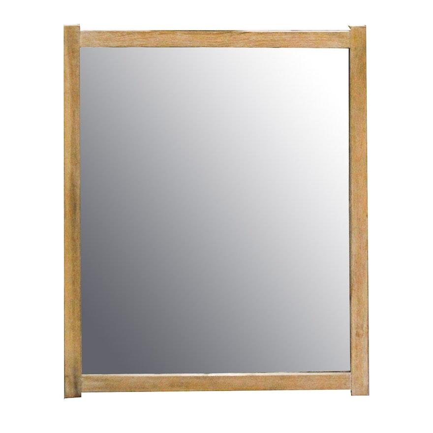 Simple Rustic Wood Framed Mirror