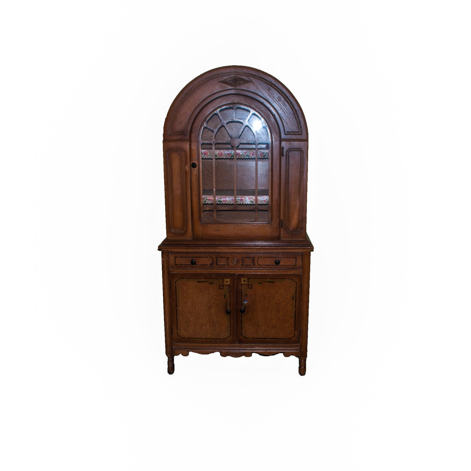 Oak Art Deco China Cabinet