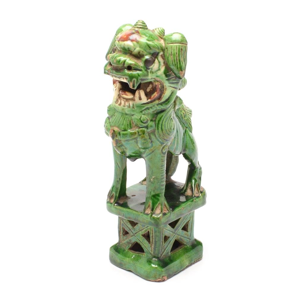 Vintage Ceramic Guardian Lion