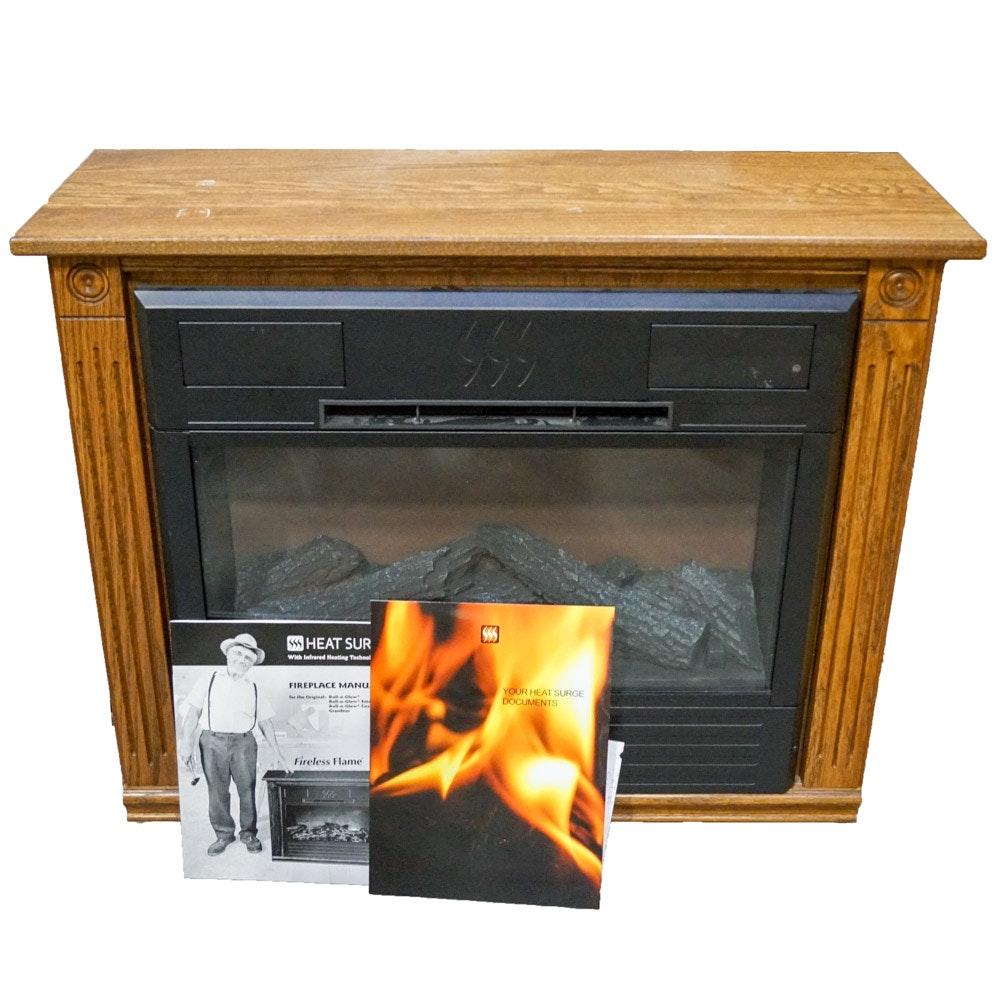 heat surge m6 electric fireplace ebth rh ebth com Heat Surge Electric Fireplace Model J8 Heat Surge Electric Fireplace Troubleshooting
