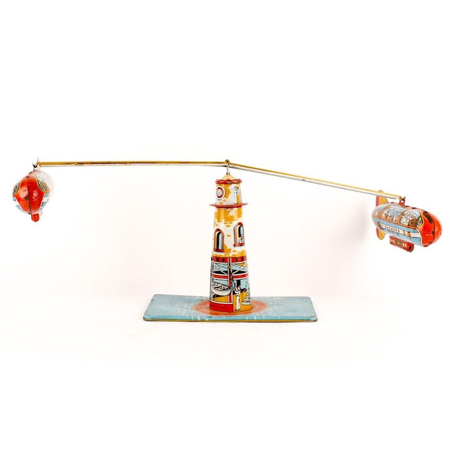 Vintage Tin Dirigible Toy