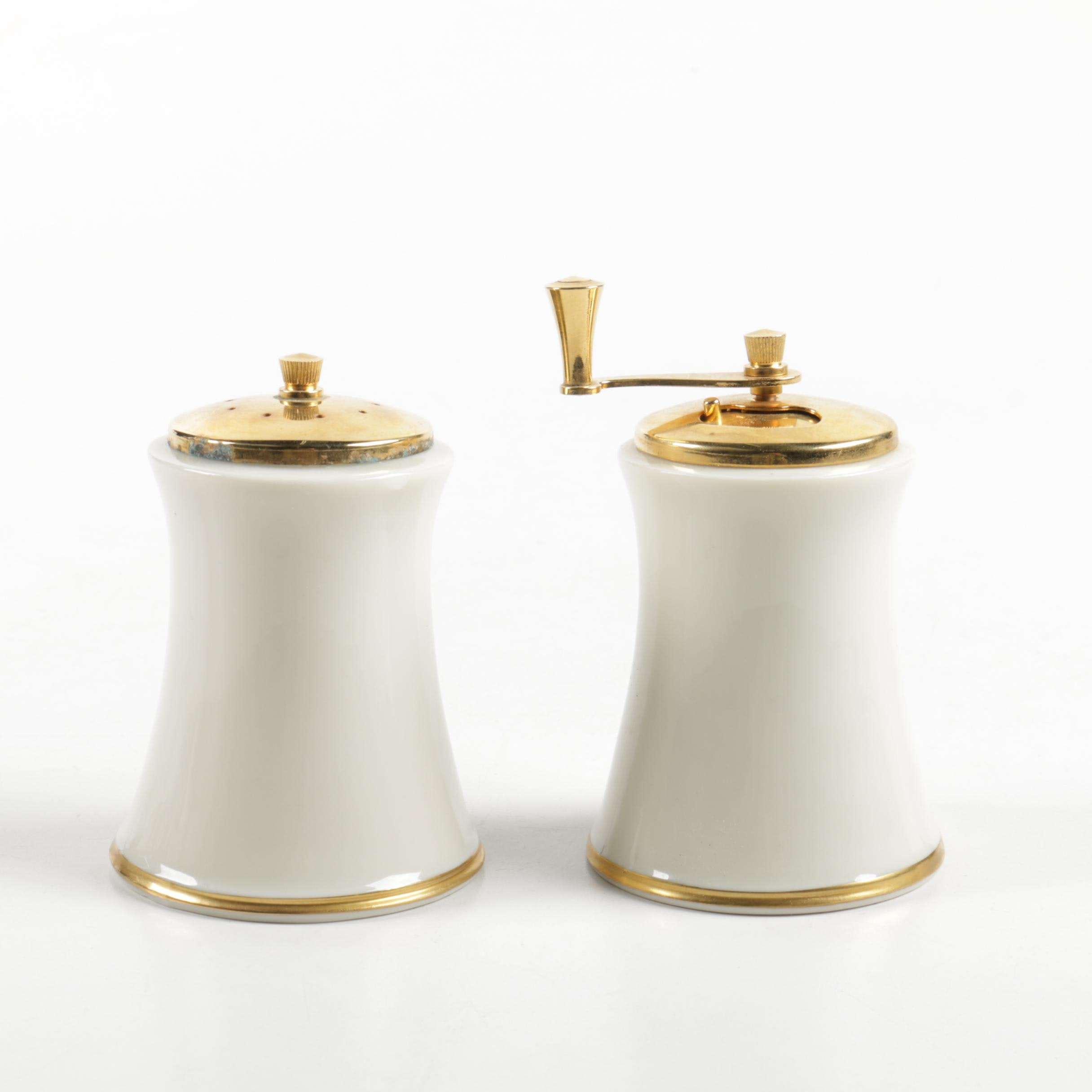 "Lenox ""Eternal"" Porcelain Salt and Pepper Mill Set"