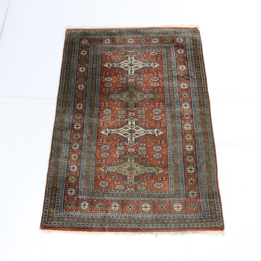 Hand Knotted Persian Wool Area Rug Ebth: Hand-Knotted Persian Area Rug : EBTH