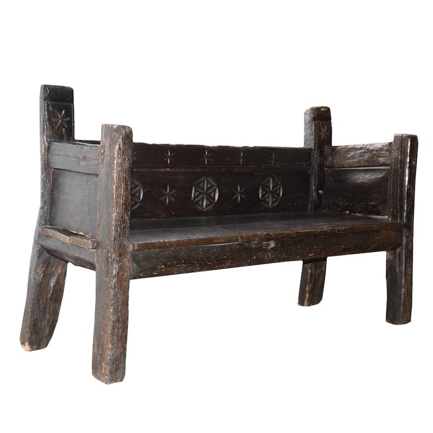 Brilliant Antique Primitive Church Pew Caraccident5 Cool Chair Designs And Ideas Caraccident5Info