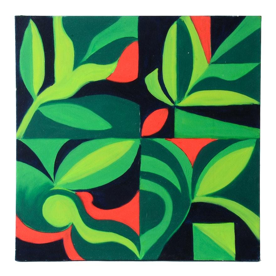 Carol J. Mathews Orginal Abstracr Oil Painting on Canvas