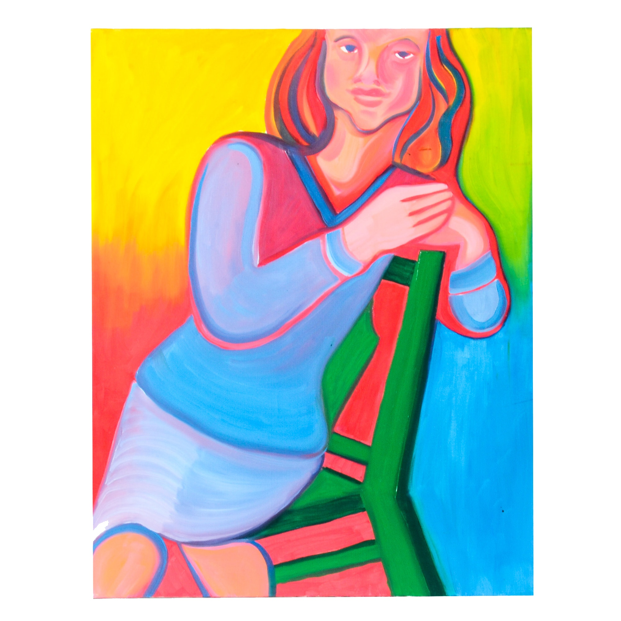 Carol J. Mathews Original Oil on Canvas Portrait Painting