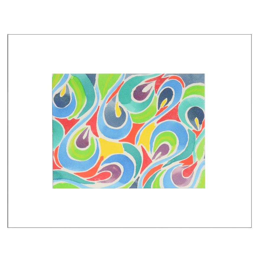 Carol J. Mathews Abstract Watercolor Painting