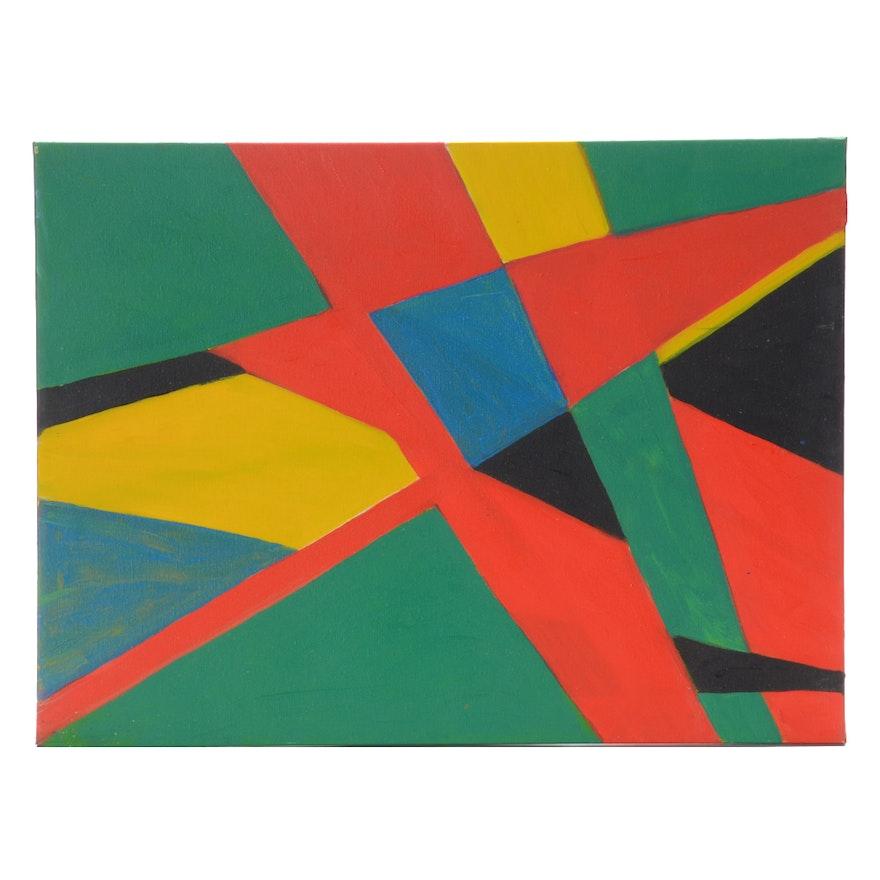 Carol J. Mathews Original Abstract Oil Painting on Canvas