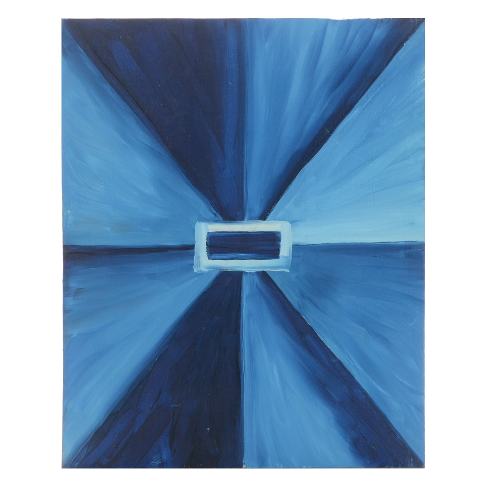 Carol J. Mathews Geometric Abstract Oil Painting