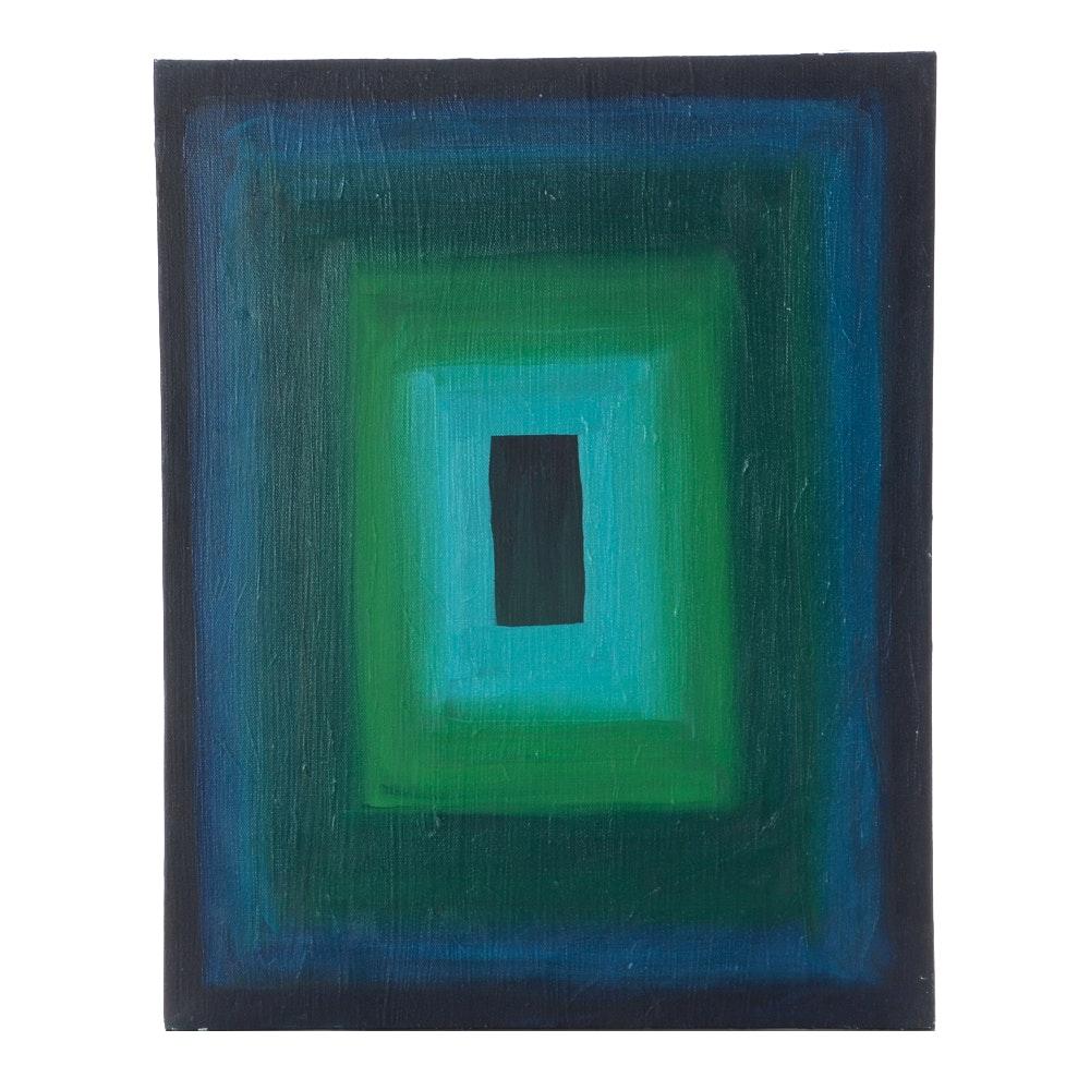 Carol J. Mathews Geometric Abstract Painting