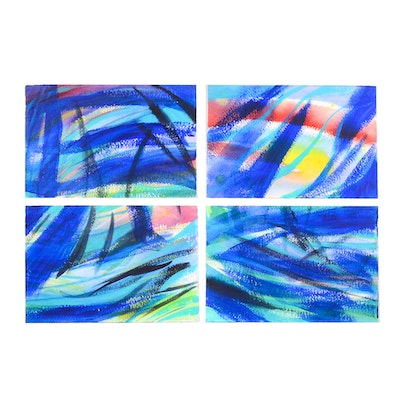 Carol J. Mathews Set of Abstract Watercolors