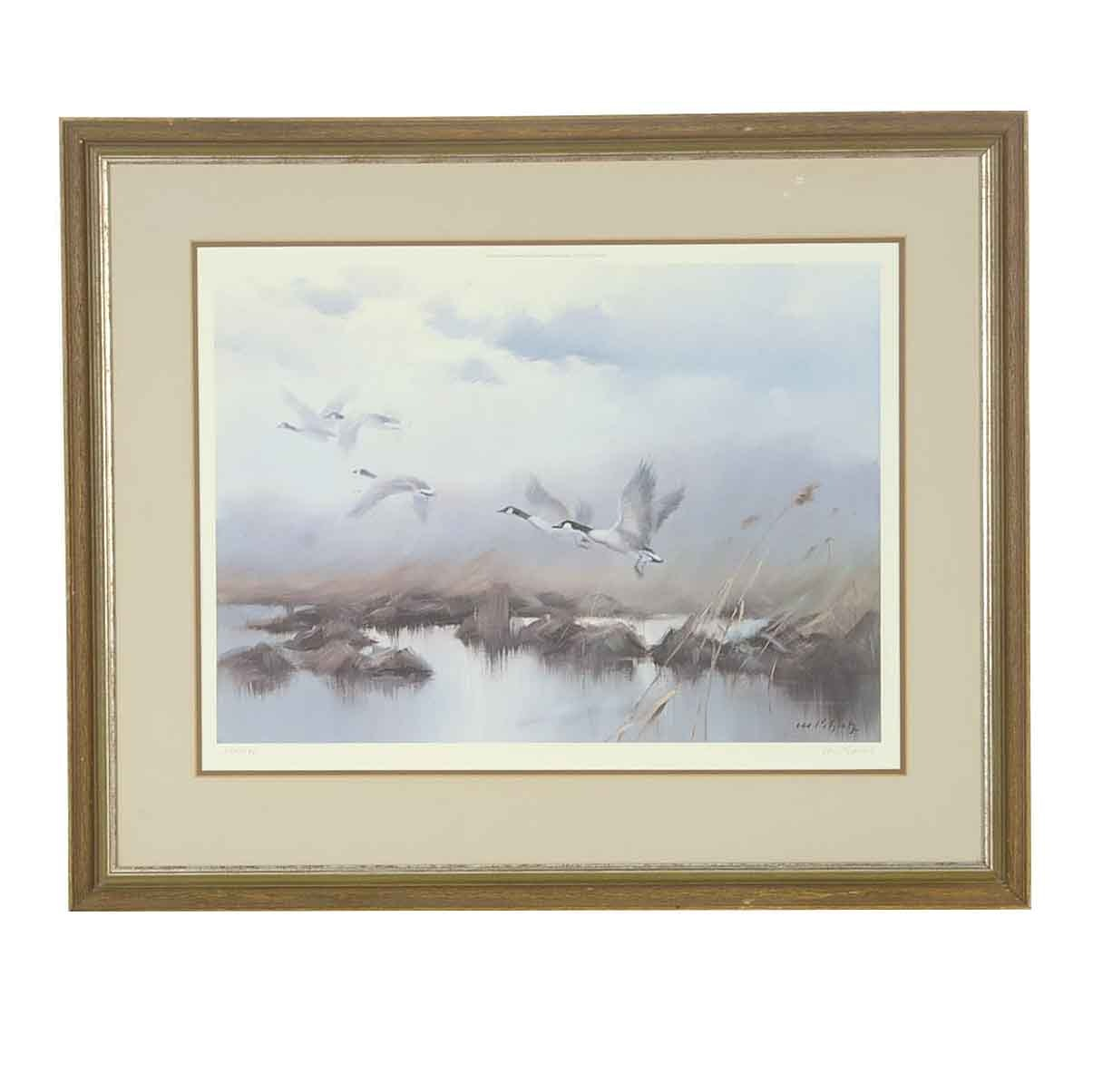 "Manfred Schatz Signed Limited Edition Offset Lithograph ""Winged Majesty"""