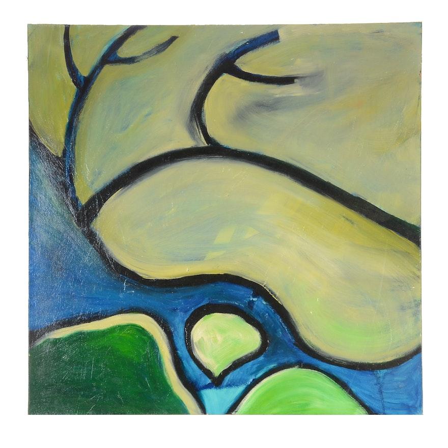 "Carol J. Mathews Original Oil Painting on Canvas ""Uterus"""