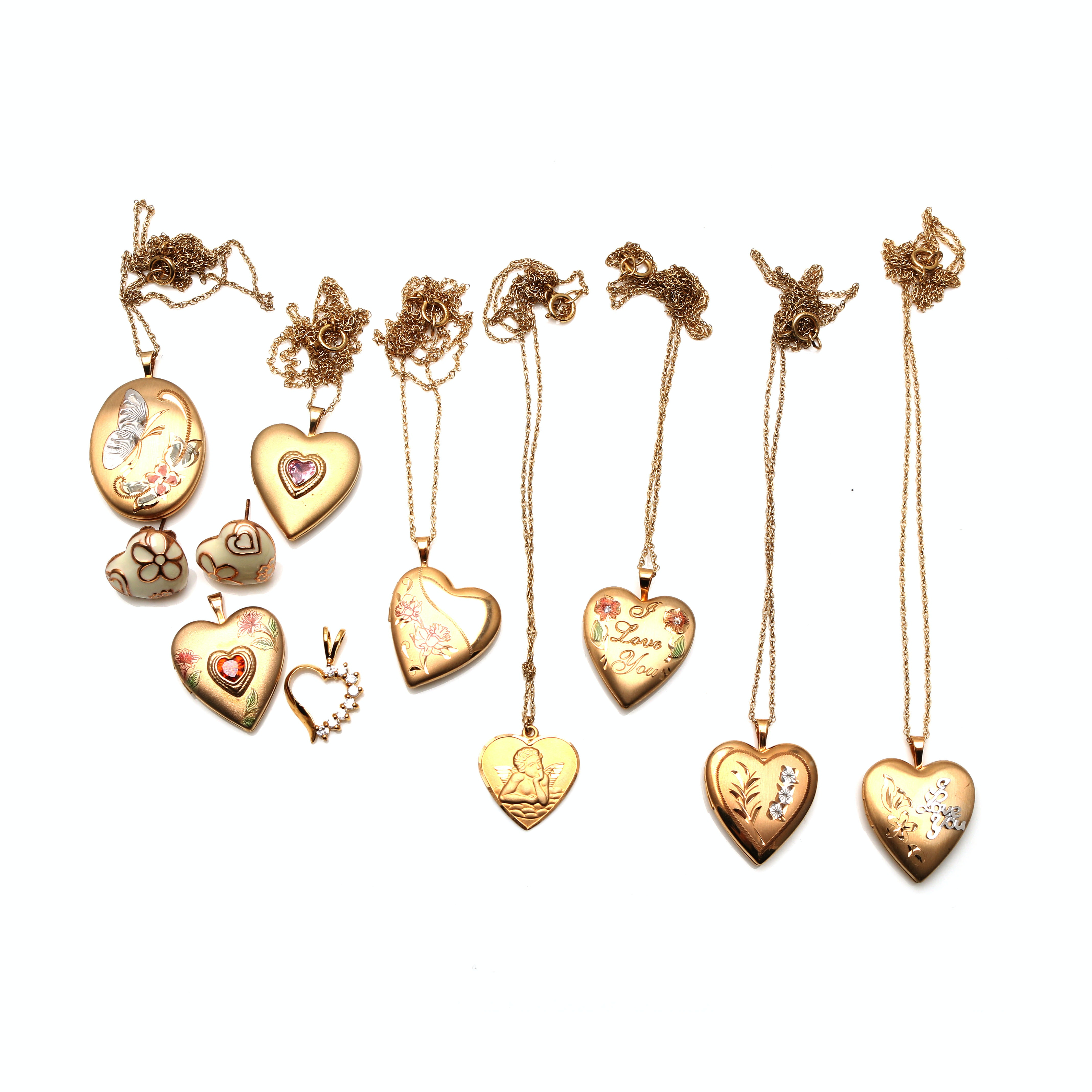 Assortment of 14K Gold Filled Jewelry Including Sterling Silver