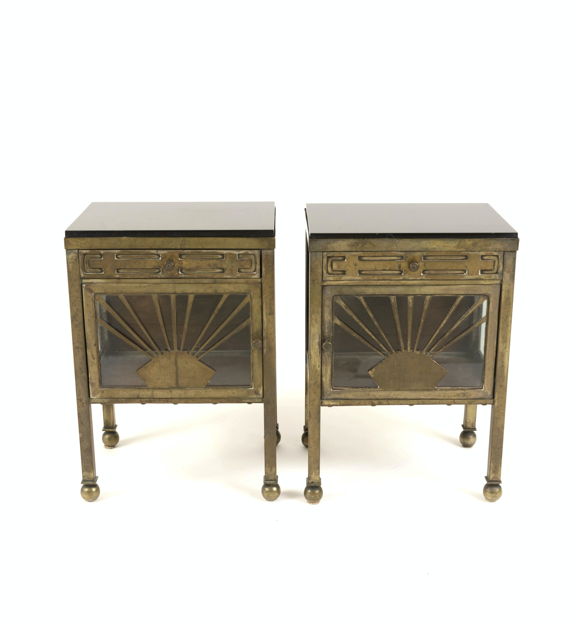 Art Deco Style Curio End Tables Ebth