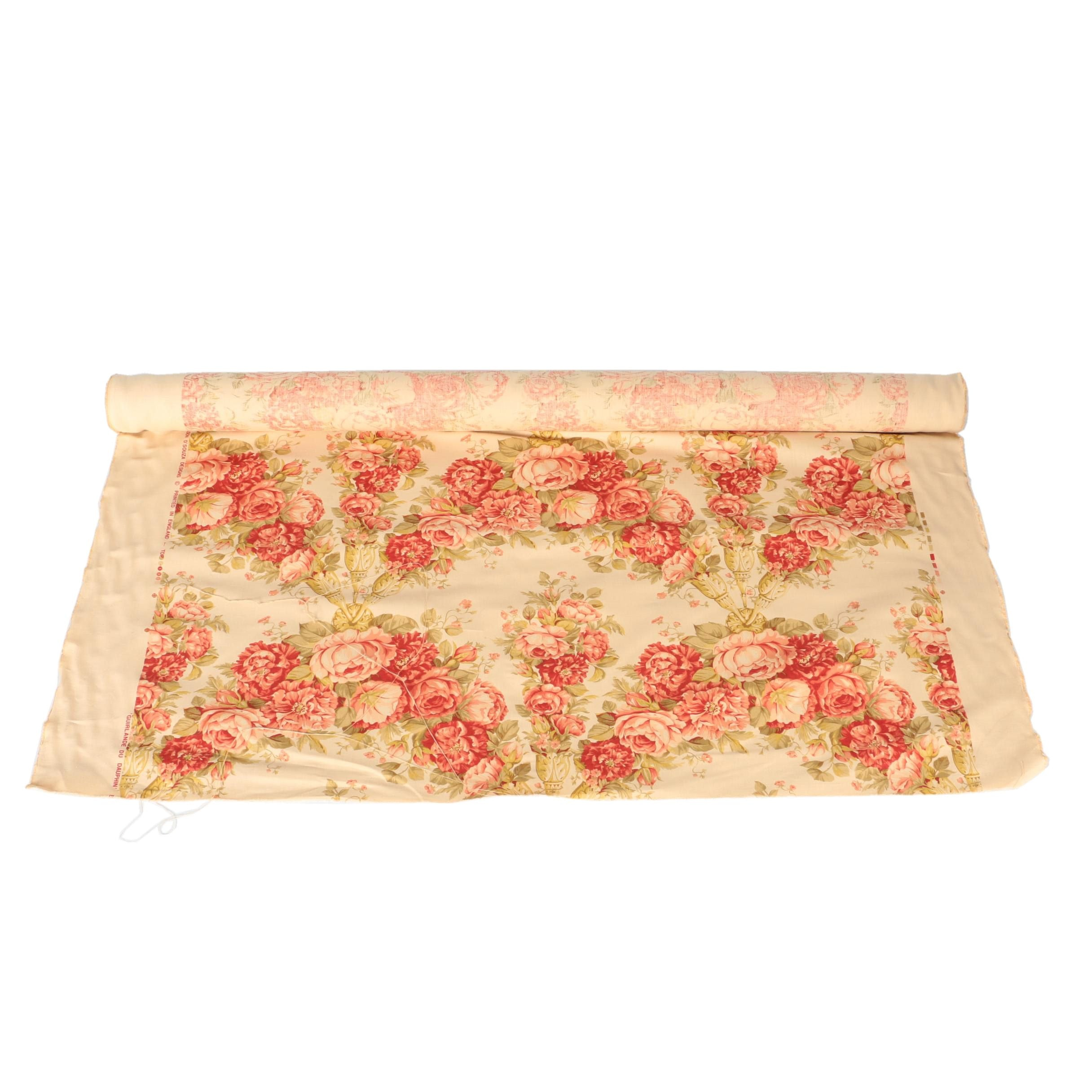 English Floral Print Fabric