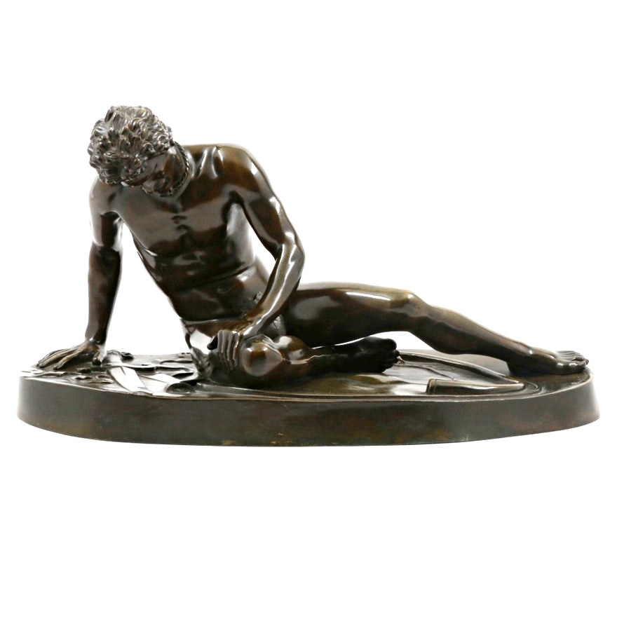 """Capitoline Museum Bronze Sculpture After """"Dying Gaul"""""""