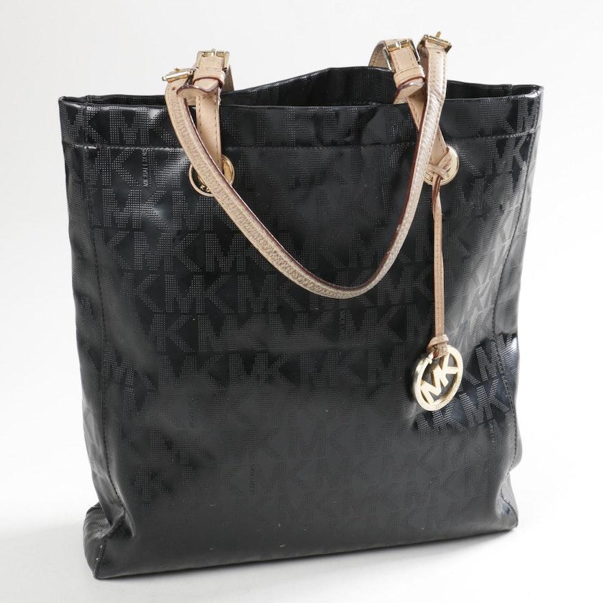 3fe420557054 Michael Kors Leather Signature Tote Bag : EBTH