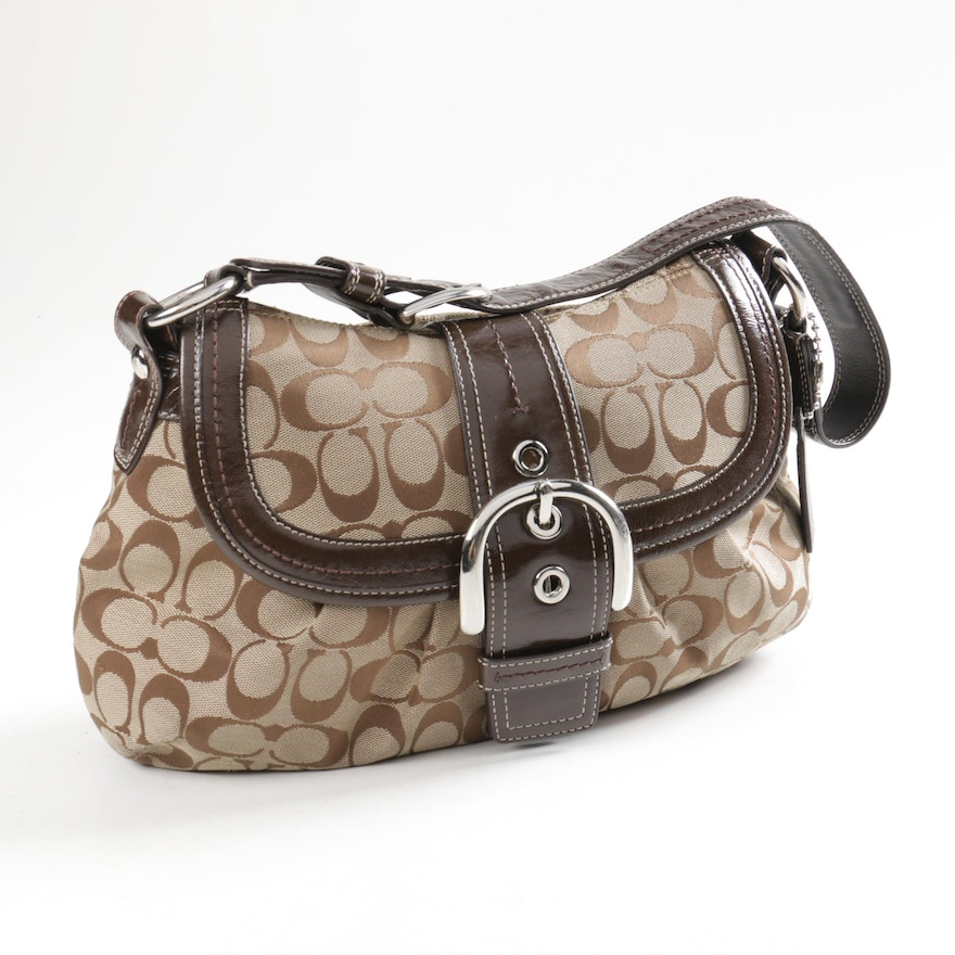 Coach Fabric And Leather Handbag