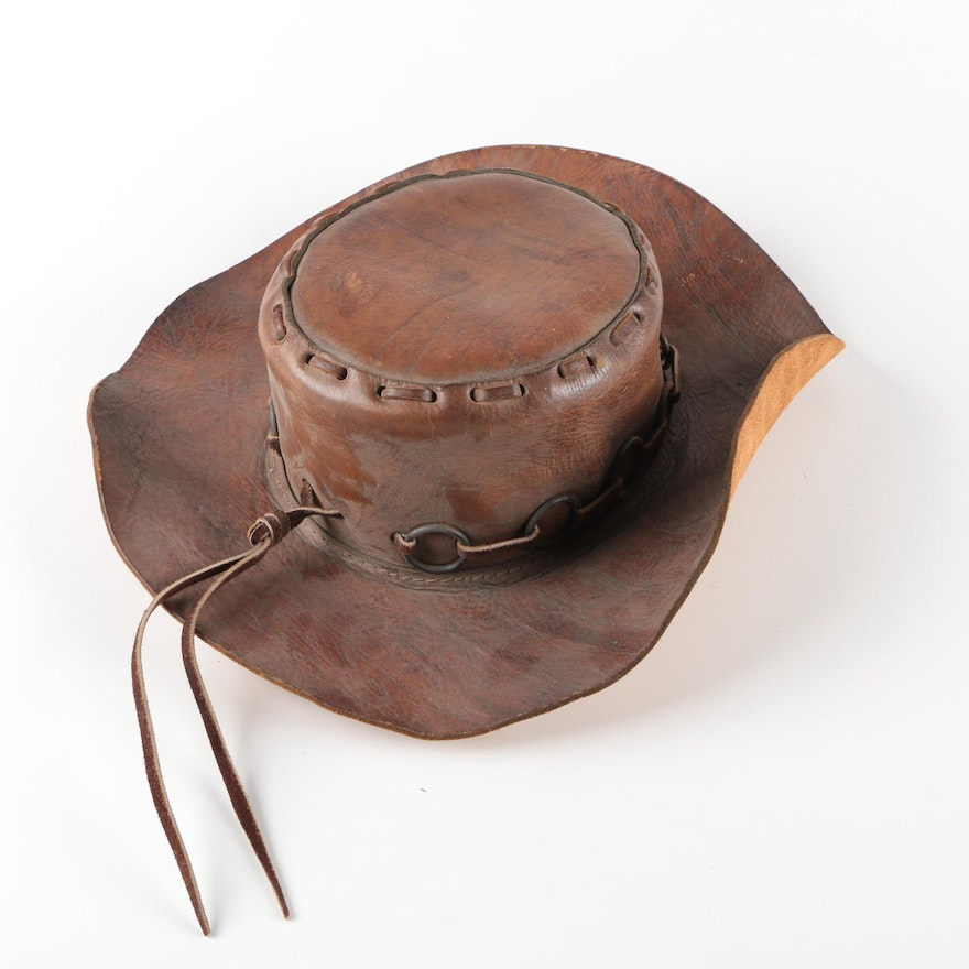 f4deb980 Mexican Leather Cowboy Hat